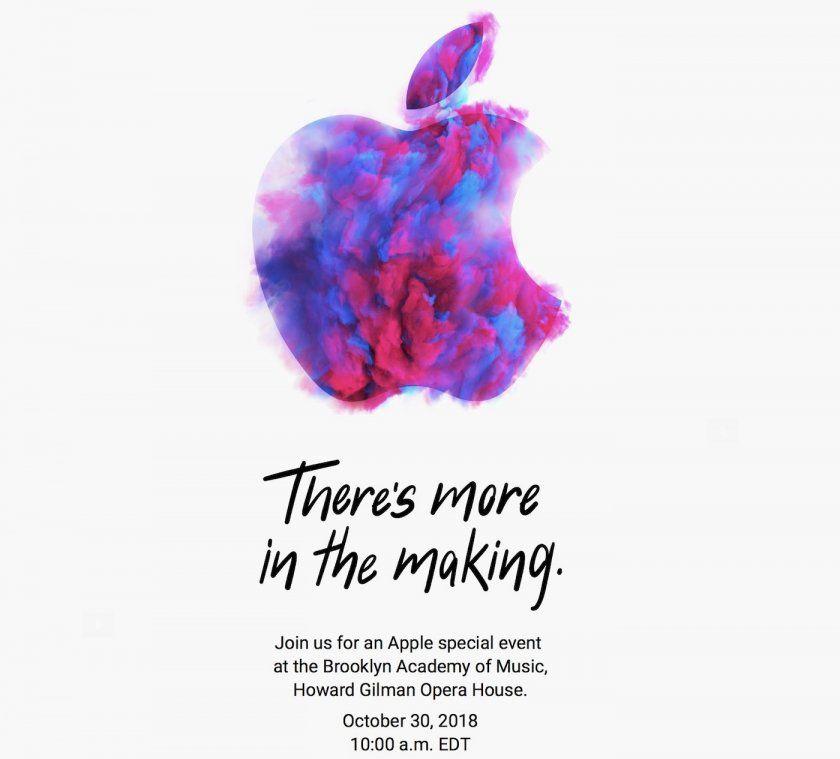 keynote apple 30 octobre 2018 ipad pro mac airpods 2