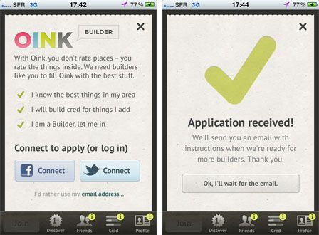 Oink, la nouvelle application tendance ?
