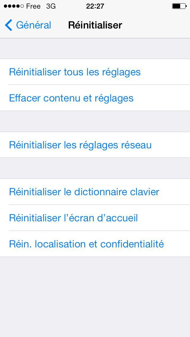 restaurer iphone vente