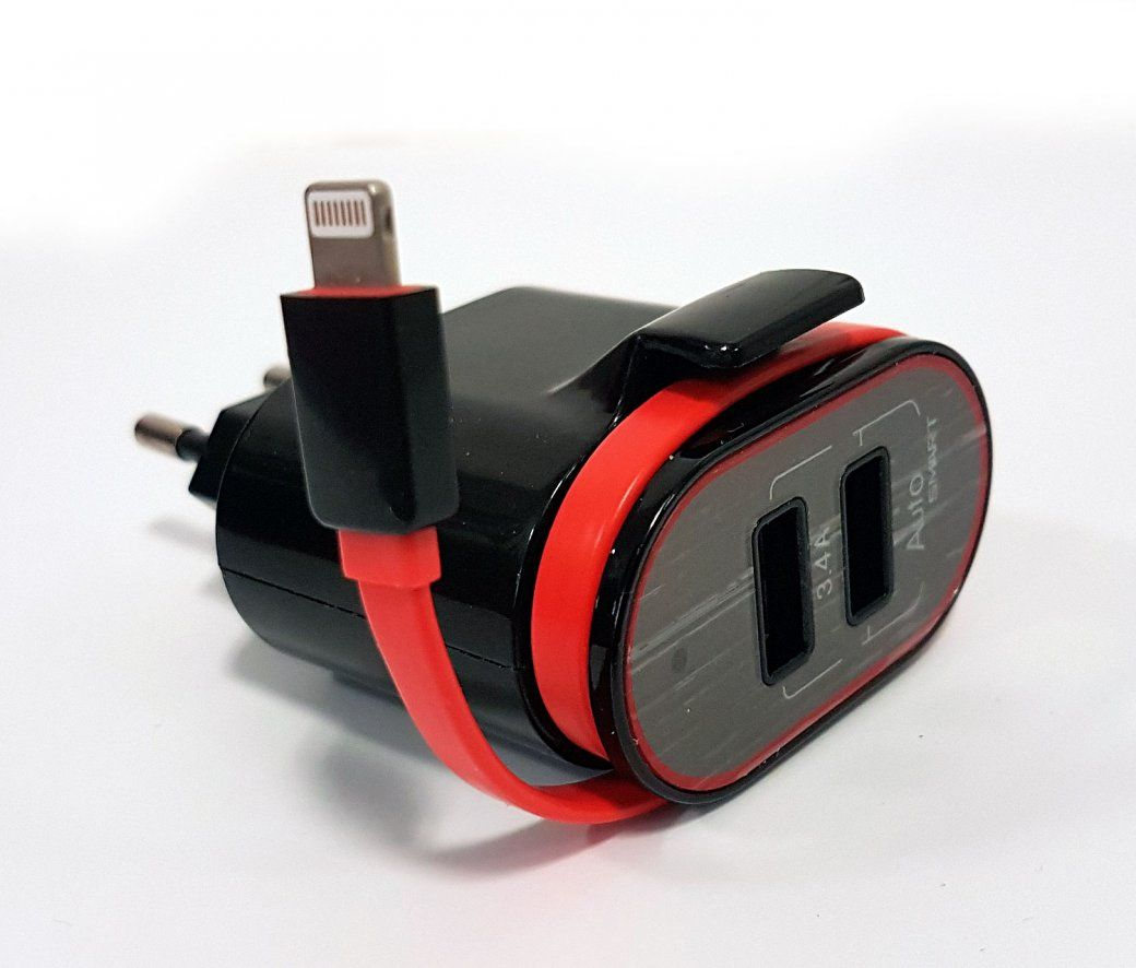 chargeur usb double   lightning