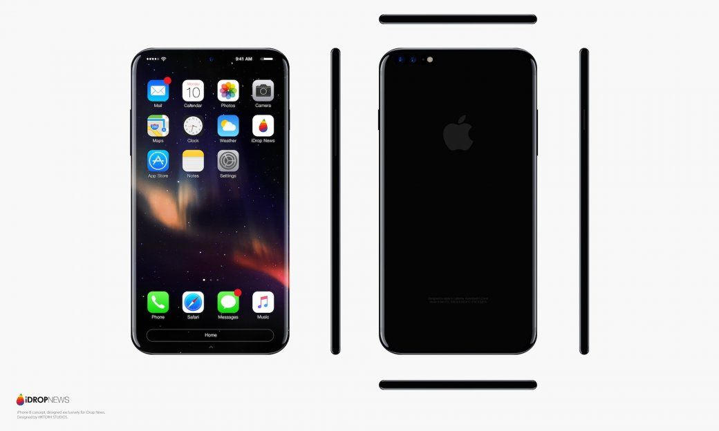 iphone 8 concept oled sans bord