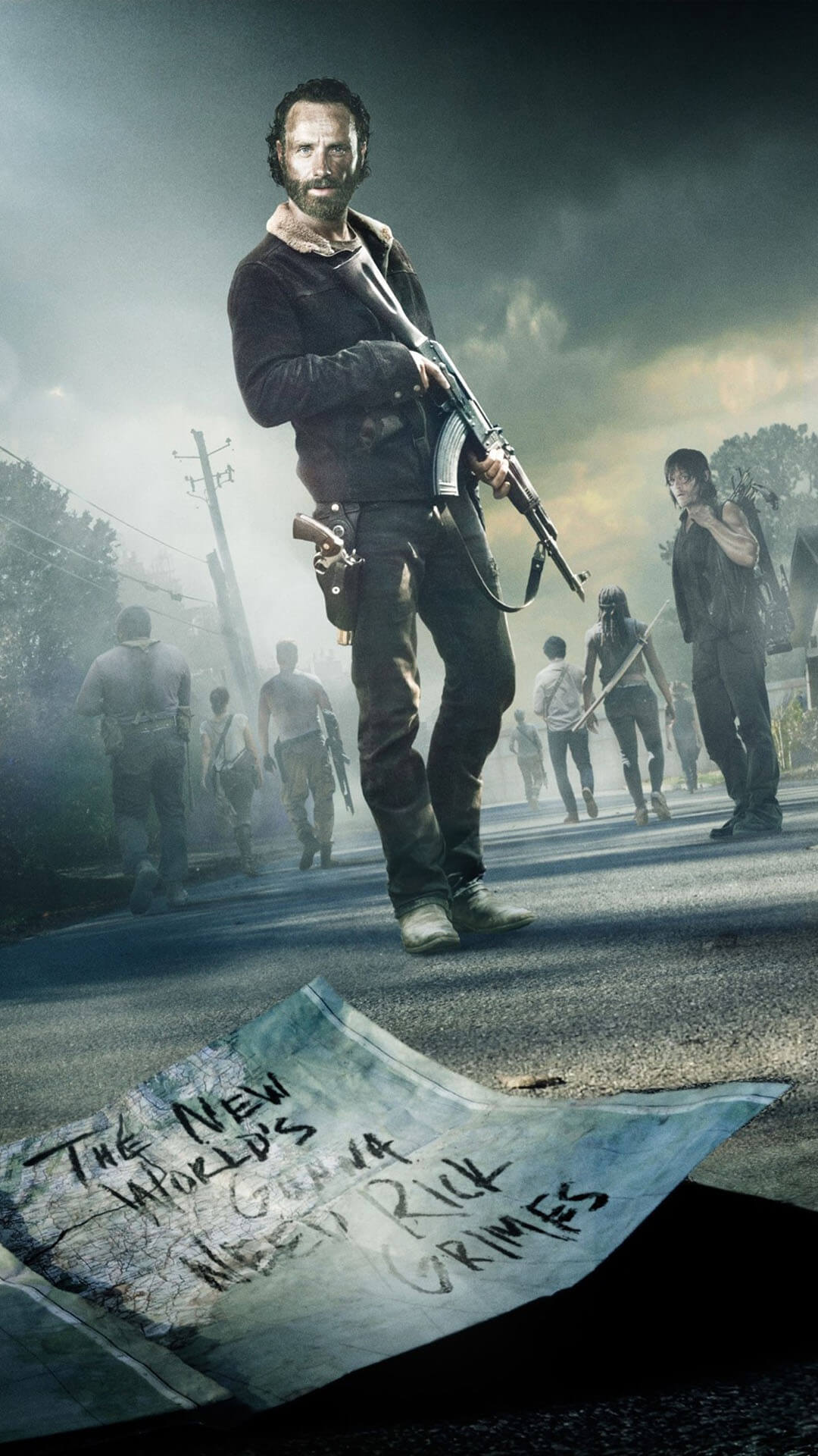 the walking dead wallpaper fond ecran iphone 7 plus 3