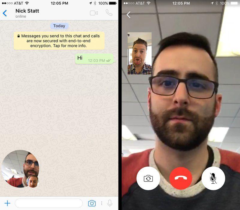 Les appels vidéo enfin disponibles pour tous — WhatsApp