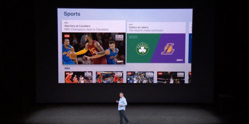 le sport en direct intelligement mis en avant sur l 39 apple tv. Black Bedroom Furniture Sets. Home Design Ideas