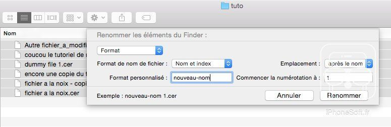 tuto comment renommer fichiers mac