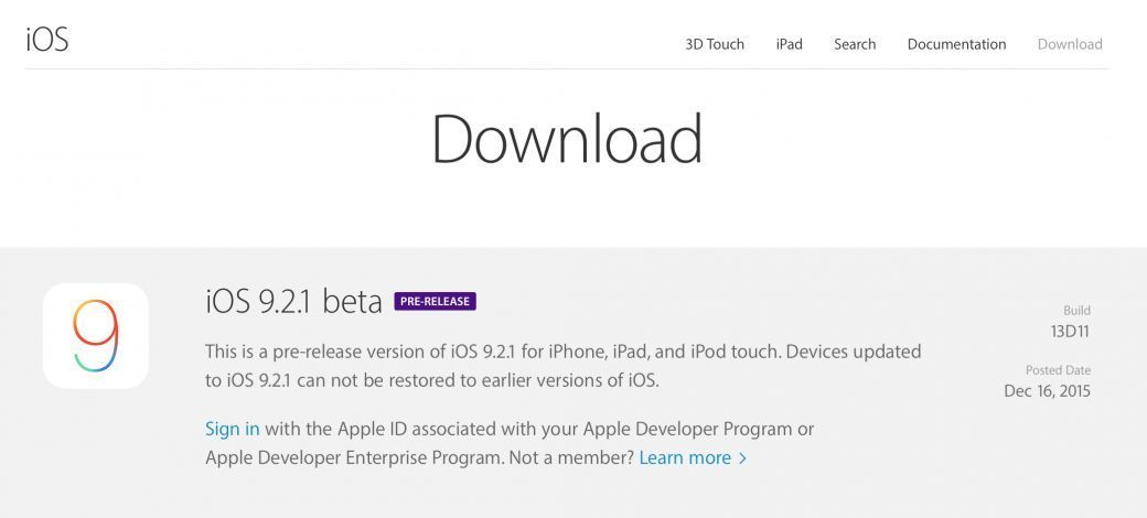 ios 921 beta apple