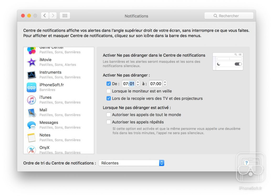 tuto mac notifications