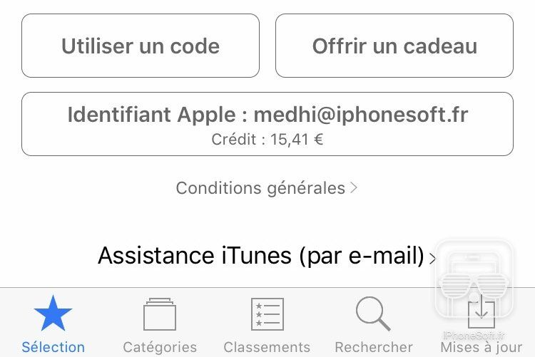 comment utiliser un code promo in app apple iphone