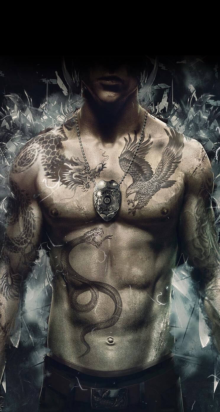 perso tatoue homme jeux video spleeping dogs iphone 7 plus hd wallpaper
