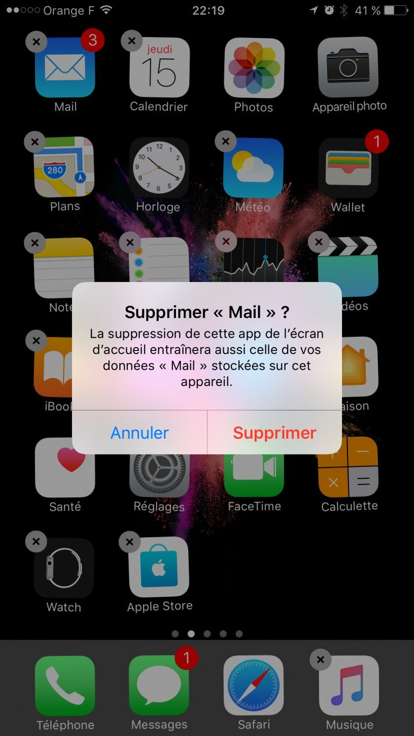 suppression applications natives ios