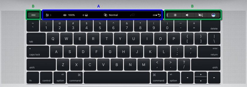 touch bar photoshop cc17