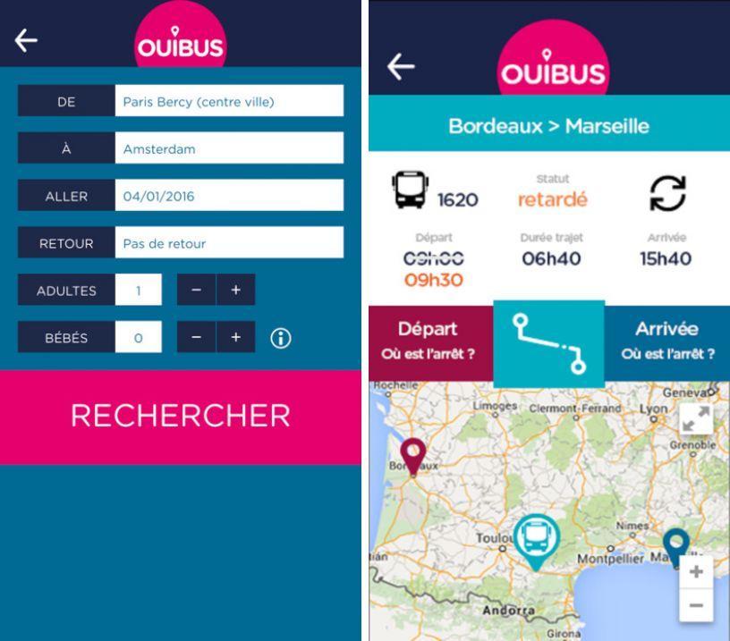 OUIBUS : voyagez facilement et pas cher en France et Europe