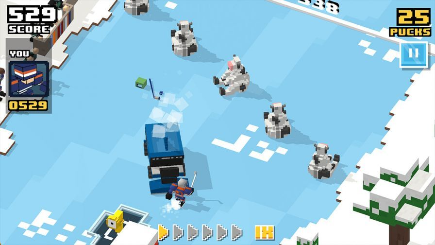 Blocky Hockey All-stars : le hockey sans fin et sans cervelle sur iOS