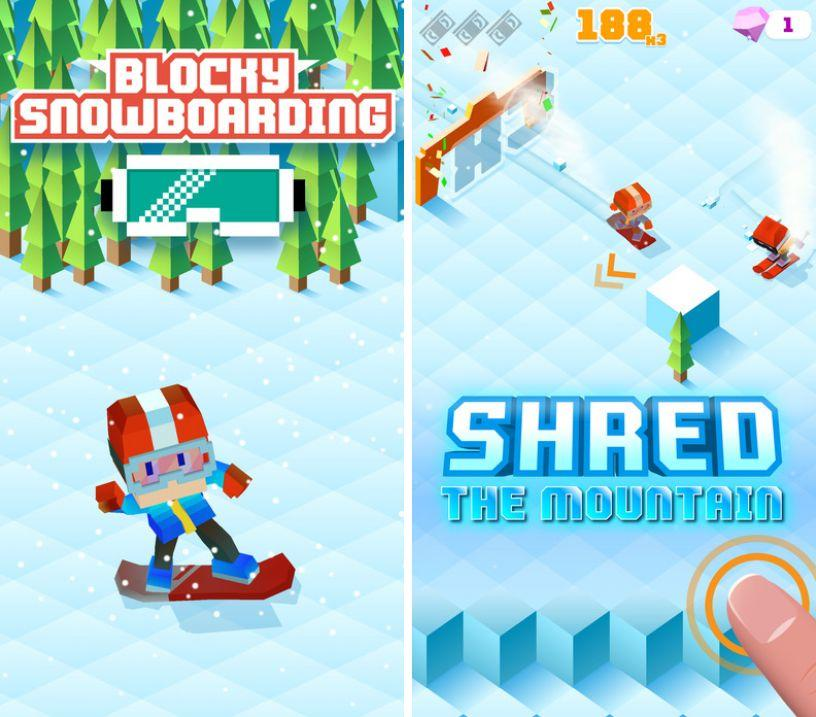 blocky-snowboarding-runner-arc ipa ipad iphone
