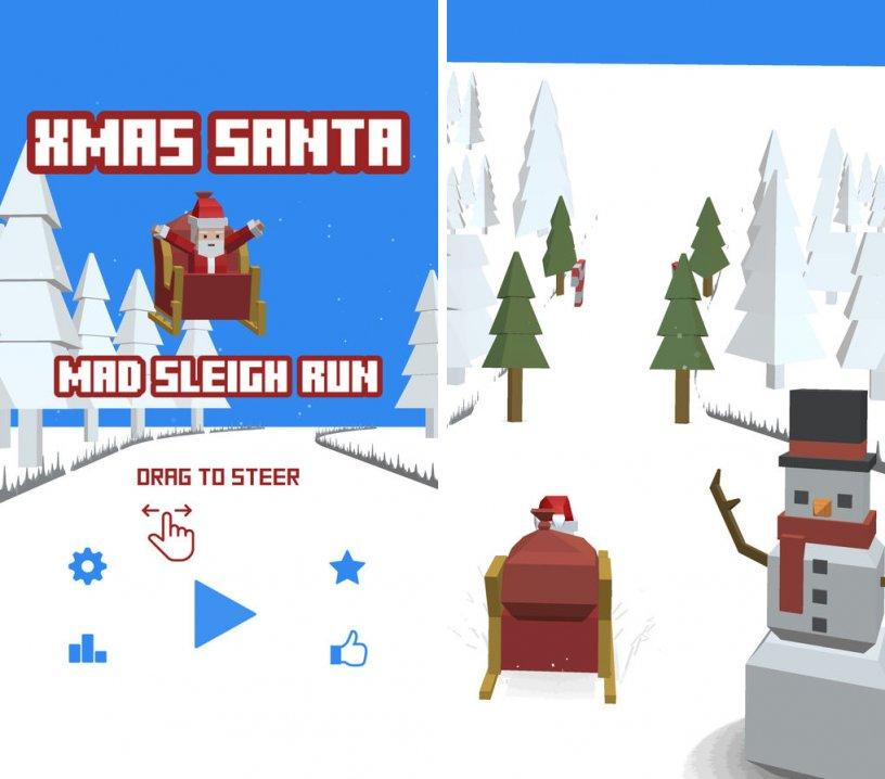 xmas-santa-mad-sleigh-run ipa ipad iphone