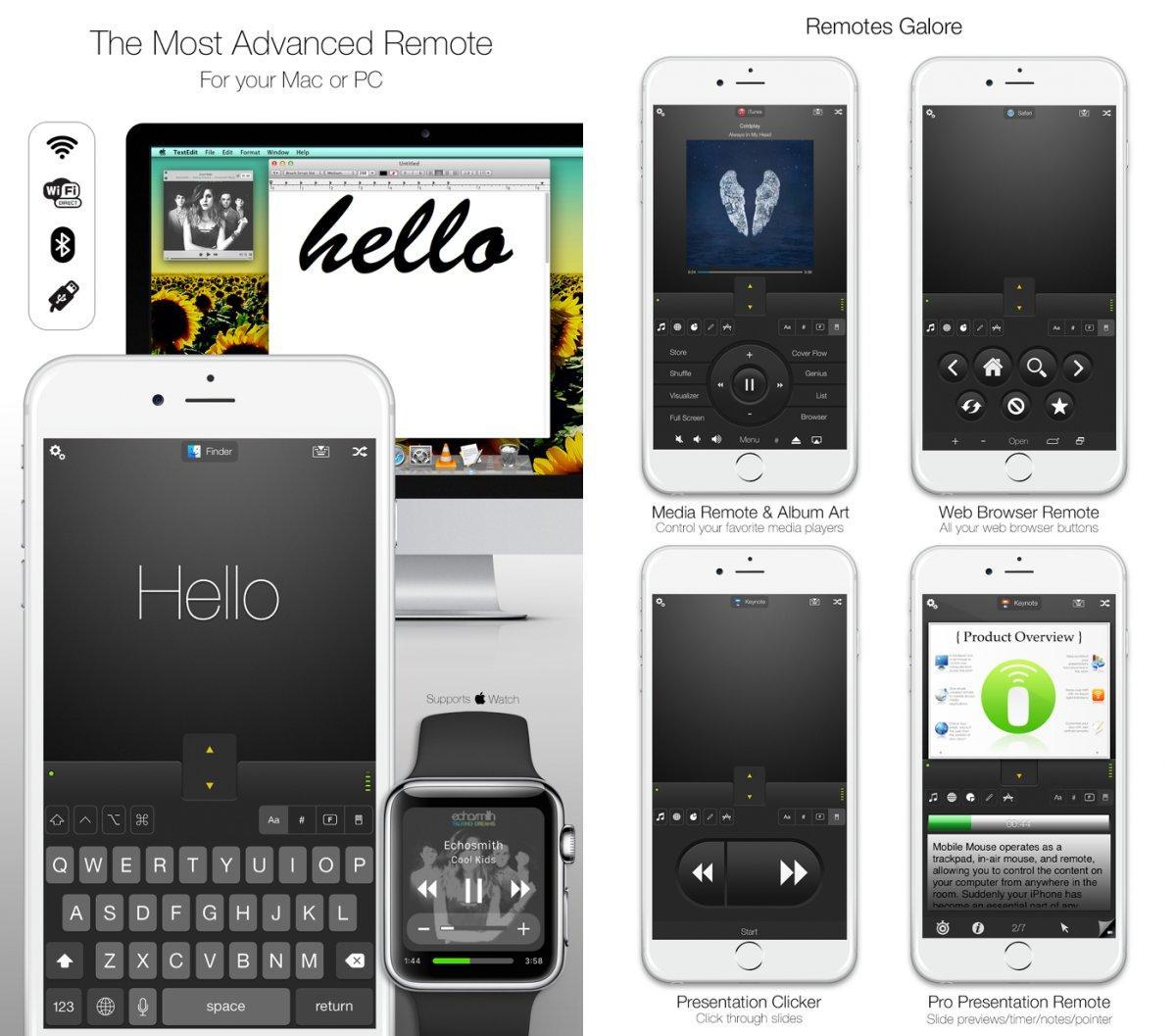 Mobile mouse remote app