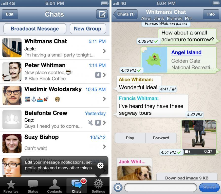 Fuite : Des captures d'écran du prochain WhatsApp Messenger