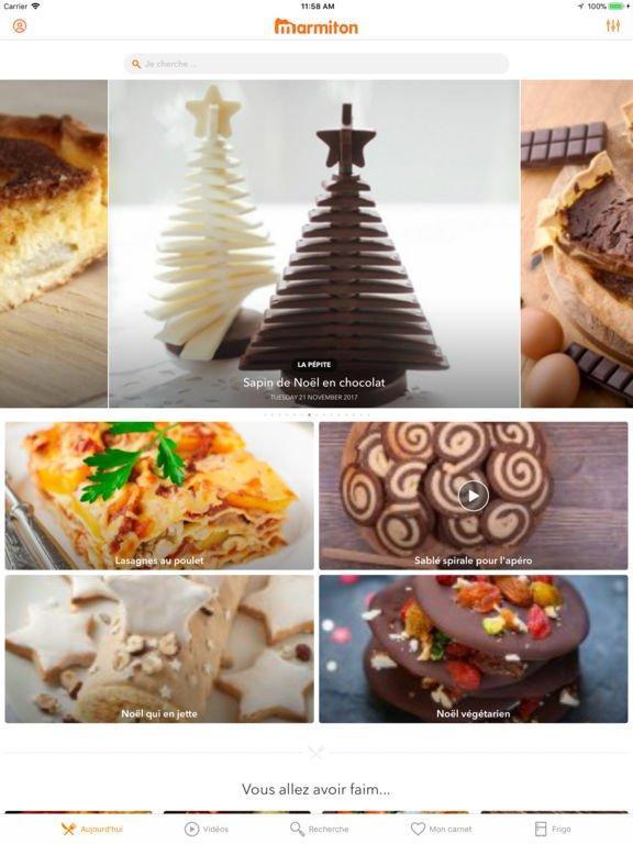 Marmiton les recettes de cuisine aussi sur ipad for Conception cuisine sur ipad