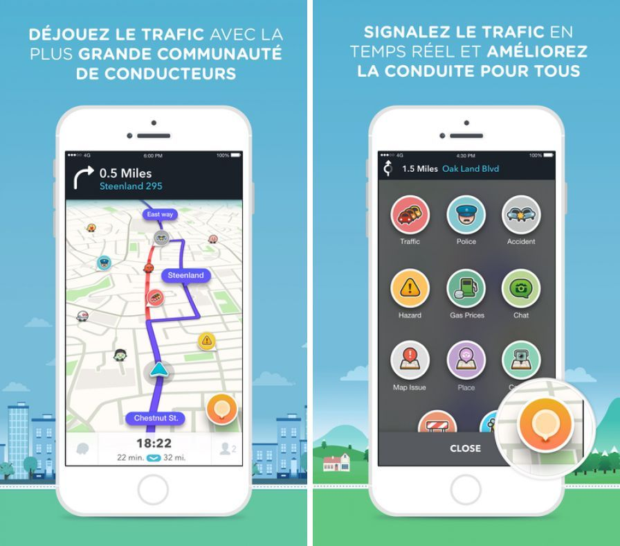 waze gps g re les radars tron ons sur ios. Black Bedroom Furniture Sets. Home Design Ideas