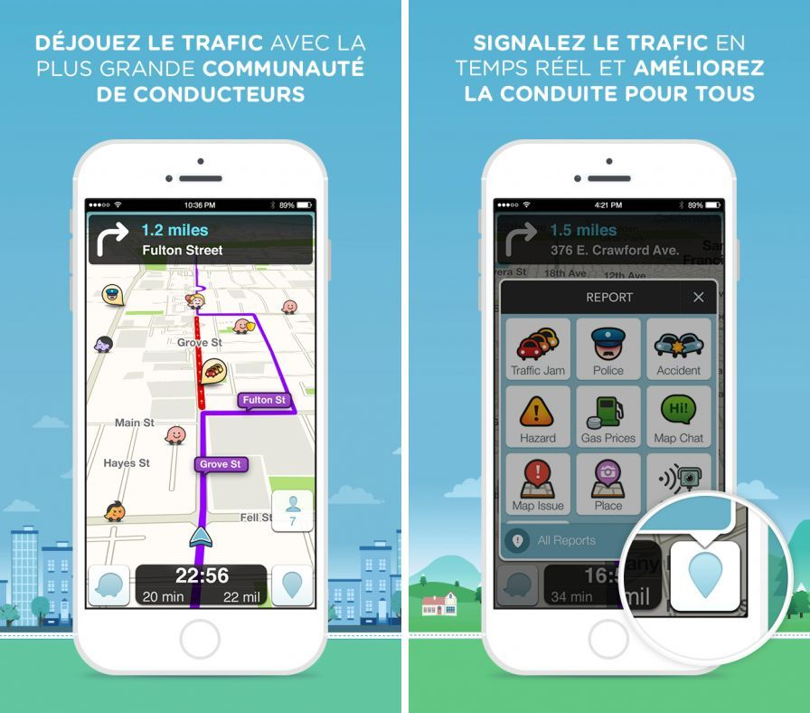 gps avec radar iphone