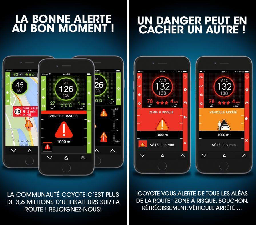 avertisseur radars pour iphone avertinoo