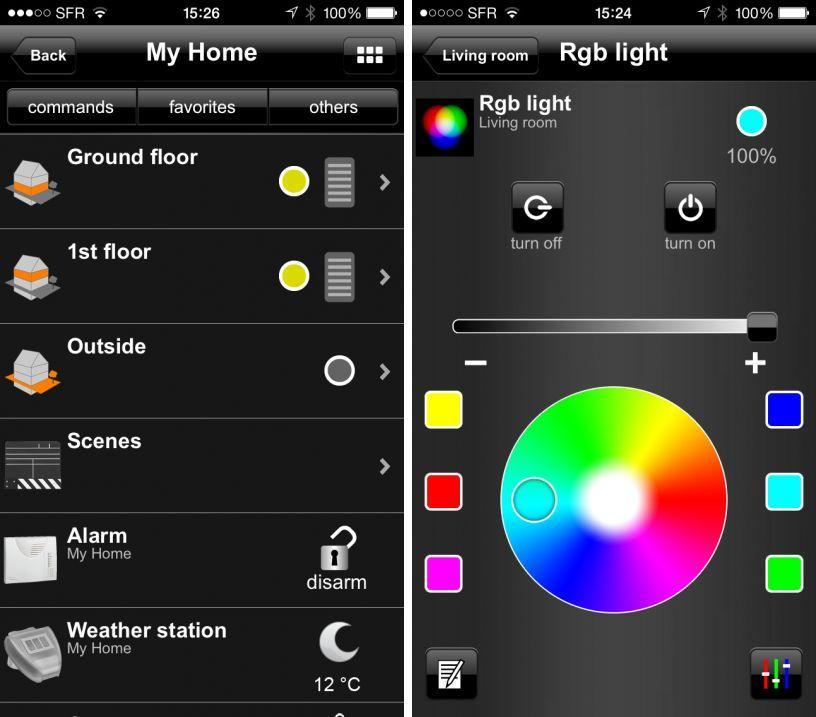 domovea piloter sa maison distance depuis l 39 iphone ou l 39 ipad. Black Bedroom Furniture Sets. Home Design Ideas