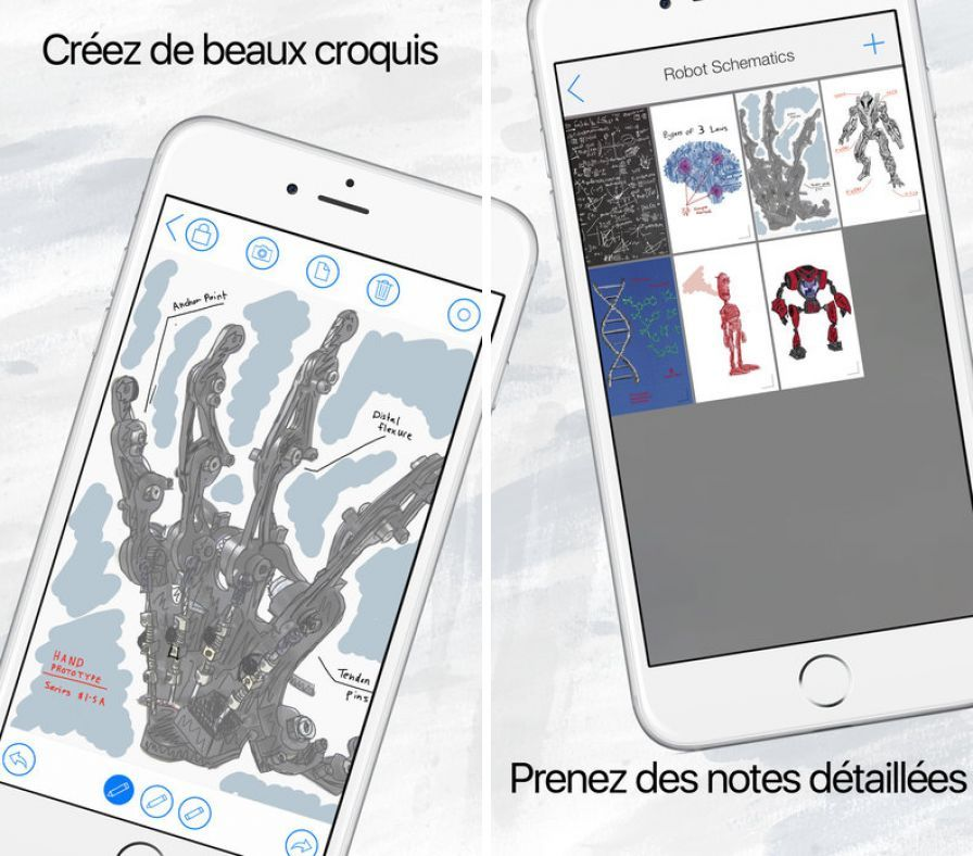 Bons plans iphone cahier dessin pro ezcolor blendimals for Application dessin 3d