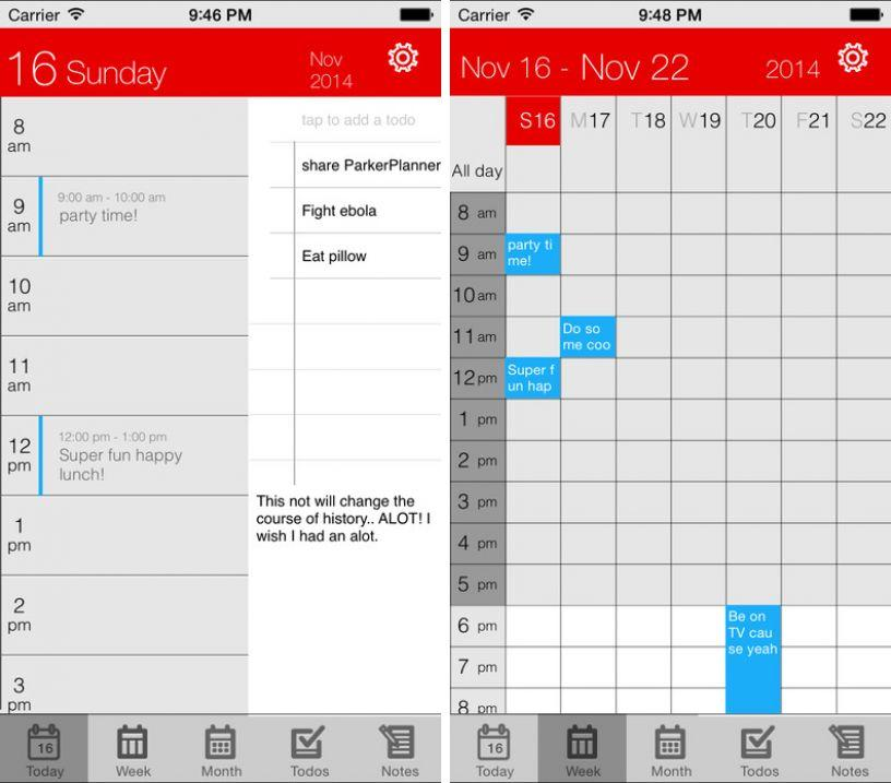 parker-planner ipa iphone