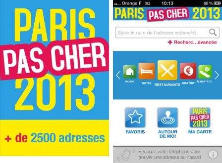 Le c l bre guide papier paris pas cher d barque sur iphone for Hotel paris pas cher formule 1