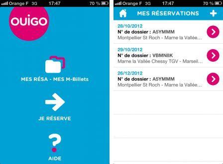 OUIGO : une appli iPhone cheap pour un service cheap