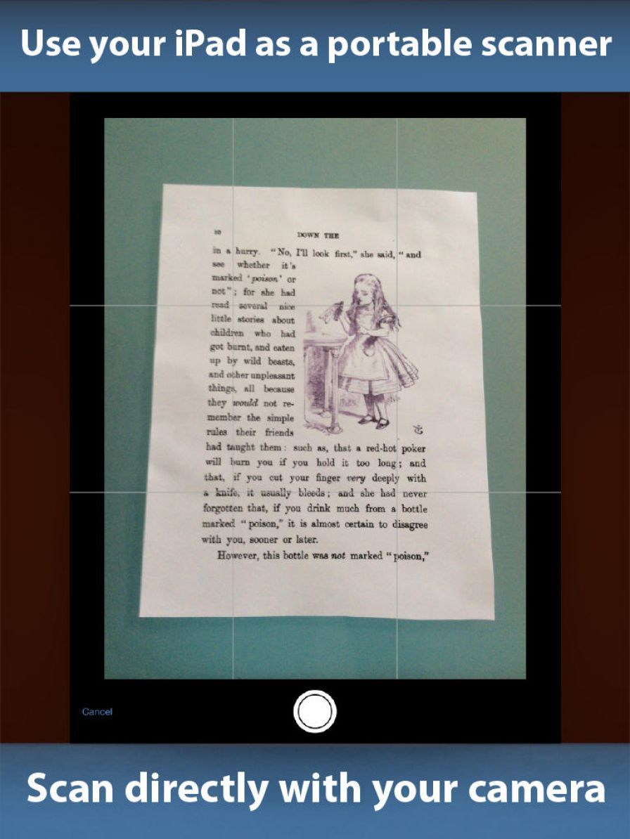how to scan as pdf as text
