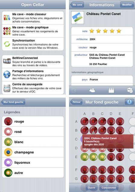Open cellar gestion de caves vins sur iphone - Gestion cave a vin android ...